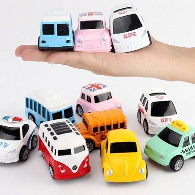 低價現貨促銷~8款Q版卡通玩具的士出租車 警車救護車 校車巴士回力小合金車模型玩具 小汽車玩具 男孩女孩玩具 節日禮物X