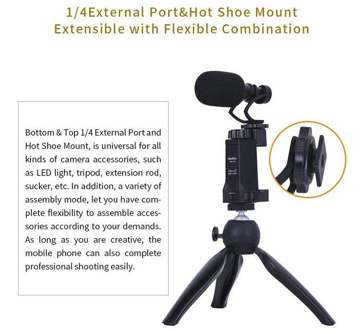 呈現攝影-COMICA CVM-VM10 M2迷你麥克風組 錄音/錄影/收音/防噪/防風 手機用VideoMicro
