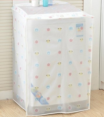 ☆╮布咕咕╭☆透明印花洗衣機防塵防曬蓋布/家用防水滾筒洗衣機罩套