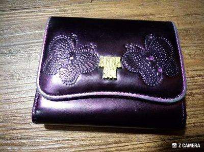 ANNA SUI短夾(亮紫色)(真品)