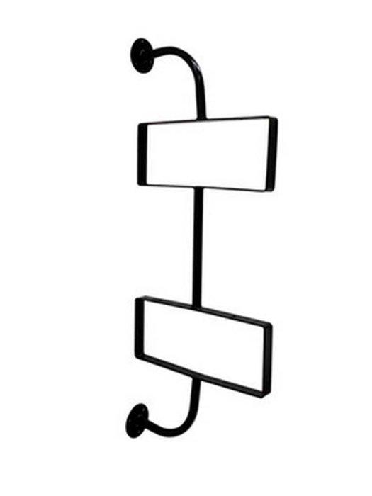 一字隔板架鐵藝 (雙層) 水管書架 【奇滿來】實木置物架 美式復古 創意隔板 裝飾壁掛支架 書架 家俱 鐵藝支架AVBF