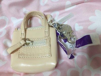 ♥ SEE BY CHLOE  ♥ 全新 奇摩購入 米白 漆皮 零錢包 鑰匙圈