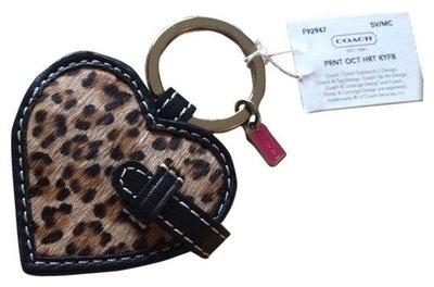 Diva Mall出清特價 880含郵==COACH 92947==全新正品豹紋相片鑰匙圈