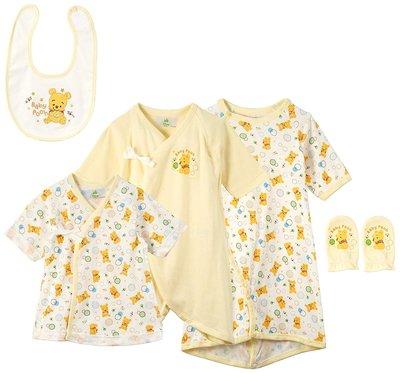 日本 Disney Baby 小熊維尼初生嬰兒服套裝