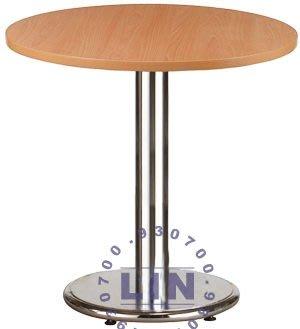 【品特優家具倉儲】893-04餐桌洽談桌303電鍍圓盤餐桌
