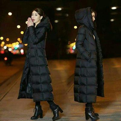 🔥下雪國家實拍照🔥冬季新款韓國中長款 長過膝 超長款 羽絨外套 連帽 修身 防風 下雪必備【S~2XL】
