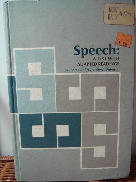 二手書 Speech: A Text with Adapted Readings,只有一本,無底價!免運費!