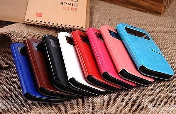 三星S4手機皮套 i9500手機套 來電顯休眠保護套