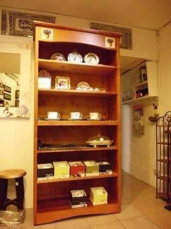 鄉村風*西班牙磁磚/全實/原木/五層書櫃/原木書架 高書架 磁磚圖案隨機出貨