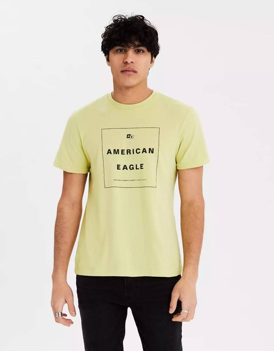 【現貨 XS S M L】AE 美國老鷹 經典老鷹字母LOGO圖案圓領短T 圓領T恤 短T AMERICAN EAGLE