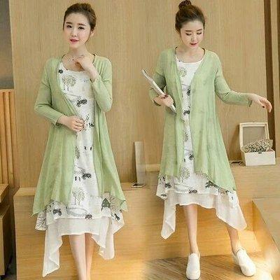 天使佳人婚紗禮服------兩件套棉麻背心連衣裙