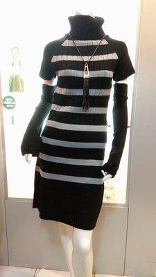 折後98元雙十特價 限時4天=DiuDiu=韓國首爾 時尚精品 東大門同步 新款女裝針織連衣裙 時尚百搭條文連衣裙女02