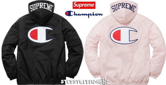 【超搶手】全新正品 2017 Supreme x Champion Sherpa Lined Hooded Jacket