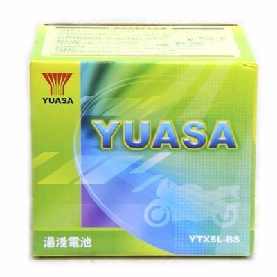 YC騎士生活_YUASA湯淺 YTX5L-BS 5號 機車 電池 電瓶 GTX5L-BS【半年保固】原廠機車電池