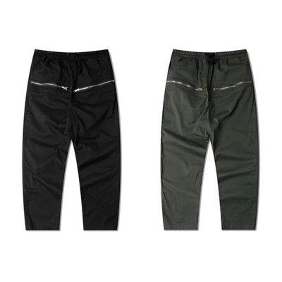 Cover Taiwan 官方直營 七分 亞麻 設計師 韓版 高端美式 歐美 休閒褲 哈倫褲 黑色 軍綠色 (預購)