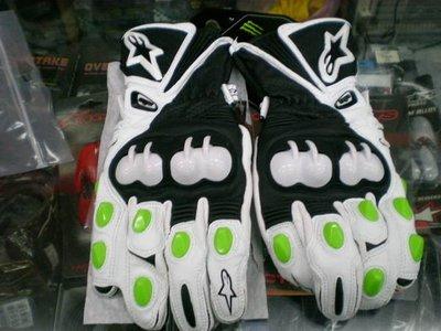 ※[元素重車裝備]※ALPINESTARS─2012年新款 GP-M真皮手套/防護優/手感更好MONSTER 綠抓痕※.