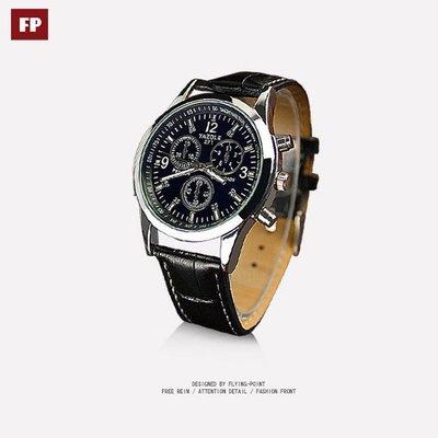 《當日出貨1680元下殺》 經典防潑水手錶三眼手錶男錶女錶中性手錶鋼帶手錶生日禮物真皮錶帶手錶父親節禮【29-174】