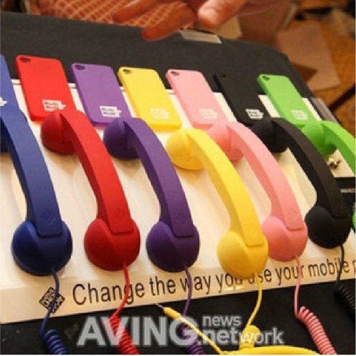 5Cgo【權宇】APPLE ET101 iPhone 3 4 5 IPAD 各牌通用 復古電話筒 聽筒 座機 一標十支組
