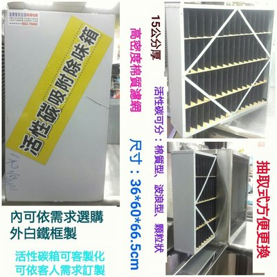 匯豐餐飲設備~全新~小型簡易活性碳除味箱/大小餐廳廚房油煙靜電風車工程案例參考