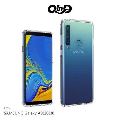 QinD SAMSUNG A9(2018) 雙料保護套 手機套 手機保護殼 透明背蓋 防摔殼【高雄MIKO手機館】