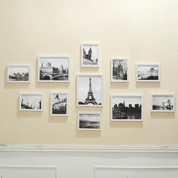 多框簡約歐式創意組合照片牆客廳臥室相片牆相框牆掛牆xw