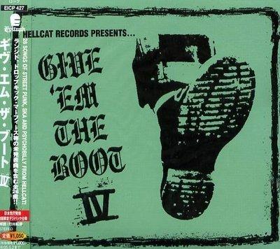 K - Give 'Em The Boot VOL.4 -日版 Digipak - NEW