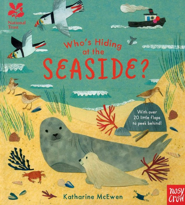*小貝比的家*WHO'S HIDING AT THE SEASIDE ? /NATIONAL TRUST硬頁書7~12歲