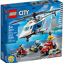 Lego City 60243 Police Helicopter Chase - 全新 (注意內文/交收地點及時間)