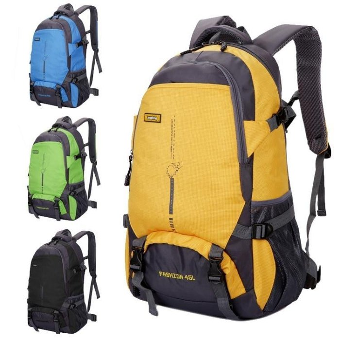 新款戶外超輕大容量背包旅行防水登山包女運動書包雙肩包男45L QQ2446 Biglove