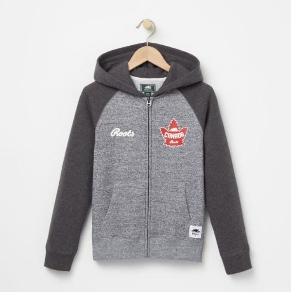 ~☆.•°莎莎~*~☆~~加拿大 ROOTS Heritage Canada Full Zip  連帽T恤(童)~