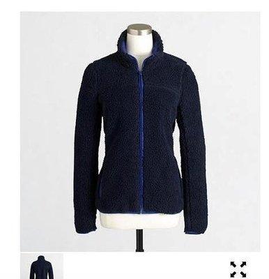 J CREW  羔羊絨外套,有網織內裡    s號 全新特價$1700