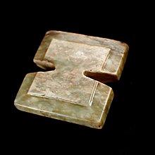 『保真』老玉市場-明代和闐玉生坑工字形玉珮
