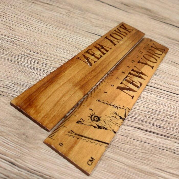 現貨  抓周道具工藝木質木尺