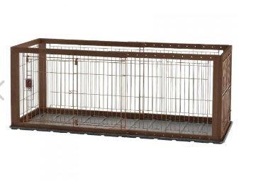 【阿肥寵物生活】日本-利其爾居家用品系列-木製伸縮圍欄(加寬型) // 不含底盤