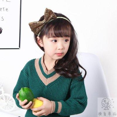 【源自幸福】韓國韓版兒童髮飾頭飾 可愛卡通蝴蝶結兔耳朵亮片女童髮箍頭箍