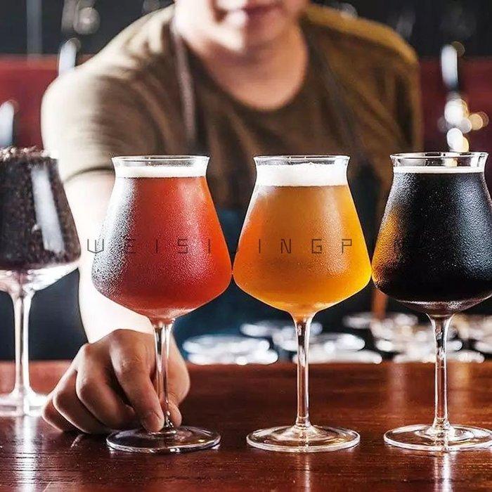 聚吉小屋 #釀酒狗精釀啤酒杯 啤酒高酒杯 水晶玻璃無鉛 高腳水晶杯IPA專用杯