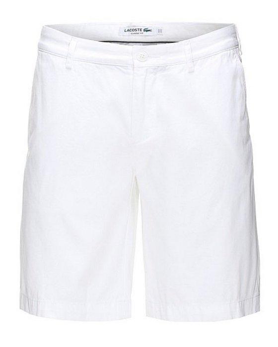 正品Lacoste白色短褲 百慕達短褲 38號