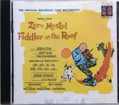 《絕版專賣》屋頂上的提琴手 / Fiddler On The Roof 舞台劇原聲帶 (美版)