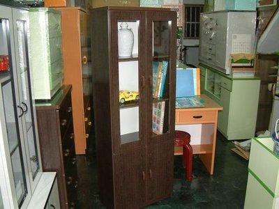 【塑鋼舒美櫥櫃設計~訂做】~不生蛀蟲.不長白蟻~胡桃木紋色~塑鋼精美書櫥~