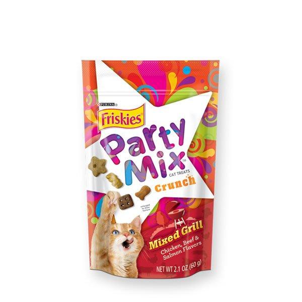 SNOW的家【訂購】Friskies 喜躍 Party Mix 貓咪香酥餅-炙燒烤肉60g (14060016
