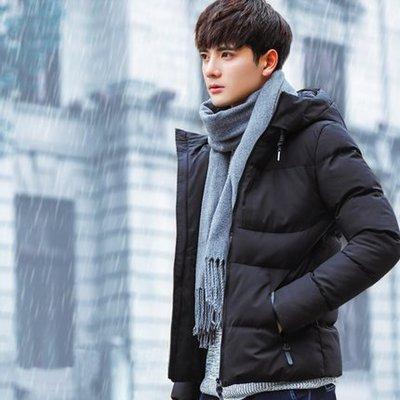 2018新款男士外套冬季外套青年棉衣韓版修身短款棉服加厚外套 預購款