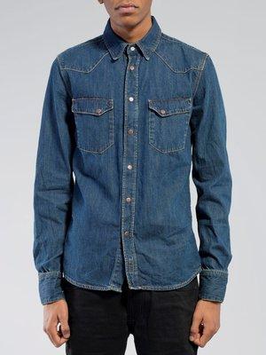 【現貨】Nudie Jeans Jonis 牛仔/丹寧襯衫 True Worn Denim M號