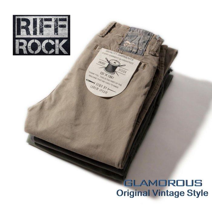 2018  英式搖滾品牌RIFFROCK MENS型男重工水洗卡嘰布修身小直筒休閒長褲~3色A  F.SUPERDRY