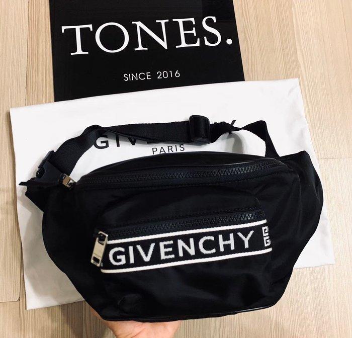 【TONES.】GIVENCHY 19SS  刺繡Logo 多功能 腰包 bag 紀凡希
