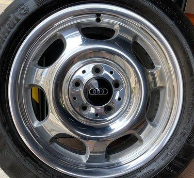 中古 Benz 原廠16吋 鍛造 鋁圈含胎  Audi A3 A4 A6 A8 Q3 Skoda VW 福斯 五孔112