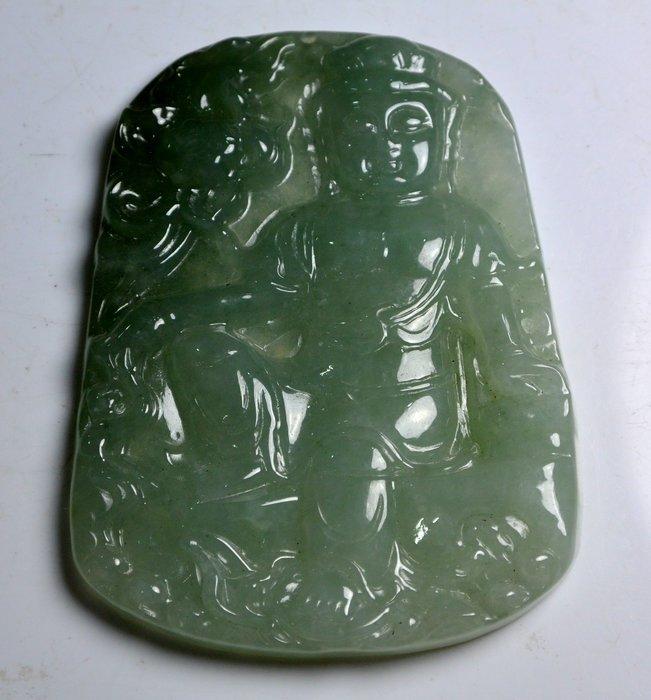 [天地居] 緬甸冰種玉佛珮 翡翠 ~A貨~