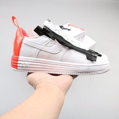NIKE AIR FORCE 1 x ACRONYM  白黑紅 百搭 时尚 滑板鞋 698699-116  男鞋