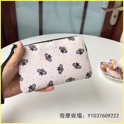coach26652 可愛蜜蜂印花L型拉鏈零錢包 手挽包 超萌可愛 超低直購