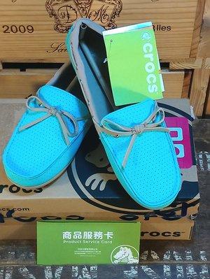 Crocs卡駱馳女士卡樂彩清風樂福鞋(淺湖藍/滾草棕色)W8:Crocs 卡駱馳 樂福鞋 女鞋 品牌 休閒鞋