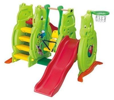 【W先生】貓頭鷹溜滑梯(長+短) 鞦韆 籃框 兒童溜滑梯 台灣製造 ST安全玩具